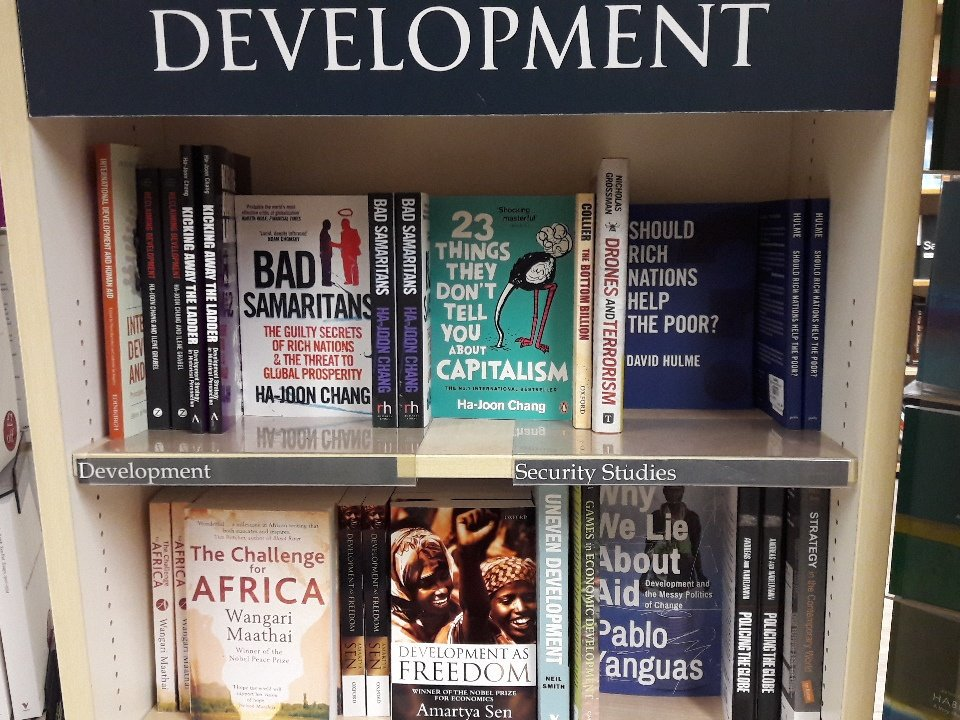 Why We Lie About Aid in a Blackwell's bookshop